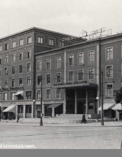Majorstuhuset ca 1935 - 1940, fotograf ukjent, forl. Eberh. B. Oppi (Oslo Museum, oslobilder.no)